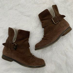 Mia Tracey Brown Suede Boots